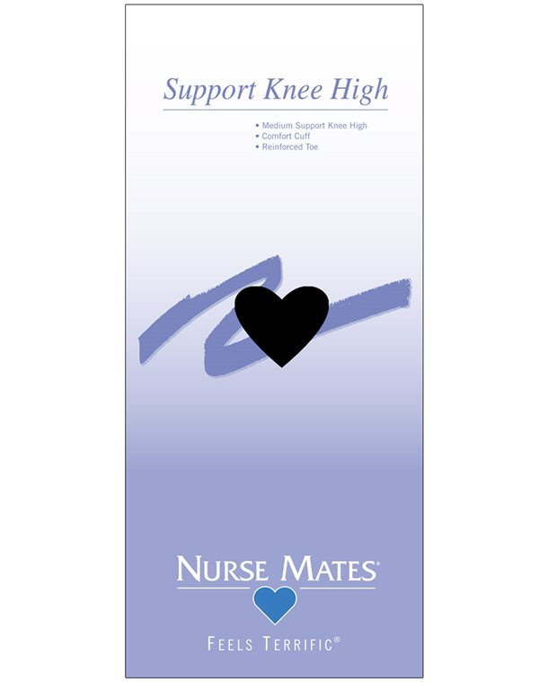 Nurse Mates Black Support Knee High Socks