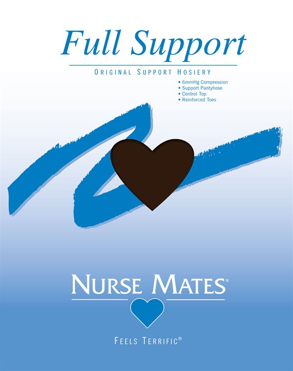 Nurse Mates Coffee Bean Full Support Hosiery-NMA