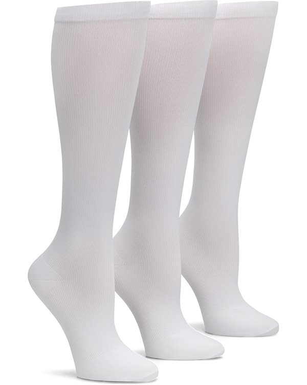 e735574f91 Nurse Mates White 3-Pack Compression Socks-Nurse Mates Accessories