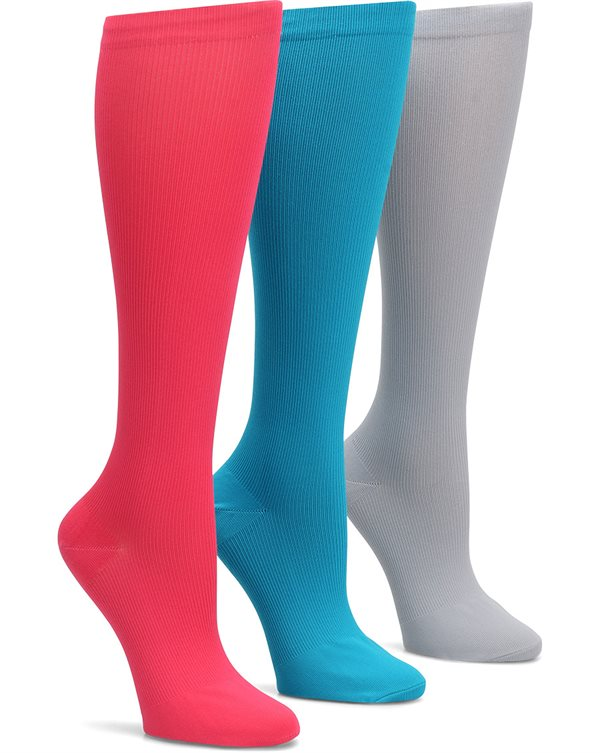 46635c4fc9 Nurse Mates Fashion Assorted 3-Pack Compression Trouser Socks-Nurse Mates  Accessories