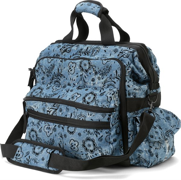 Nurse Mates Denim Floral Ultimate Nursing Bag