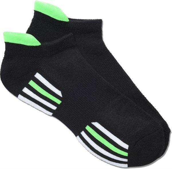 Nurse Mates Black-Green Sport Socks-NMA