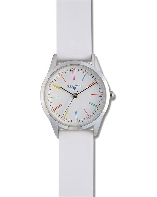 Nurse Mates White Color Wheel Watch-