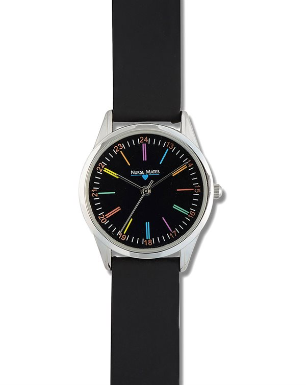 Nurse Mates Black Color Wheel Watch-