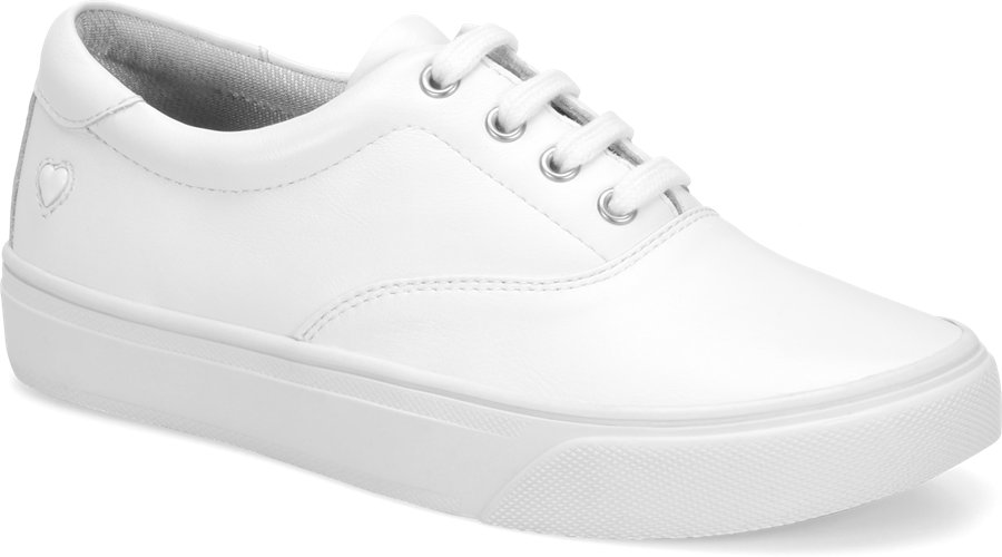 Nurse Mates Women's Fleet White Lace-Up Shoe-