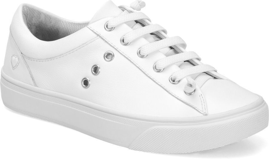 Nurse Mates Women's Fenton White Lace-Up Shoe-
