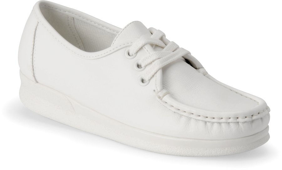 Nurse Mates Women's Annie Lo White Lace-Up Shoe-
