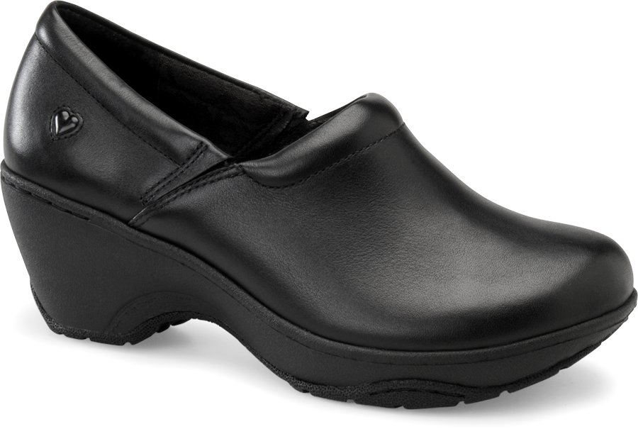 Nurse Mates Women's Bryar Black Slip-On Clog Shoe-
