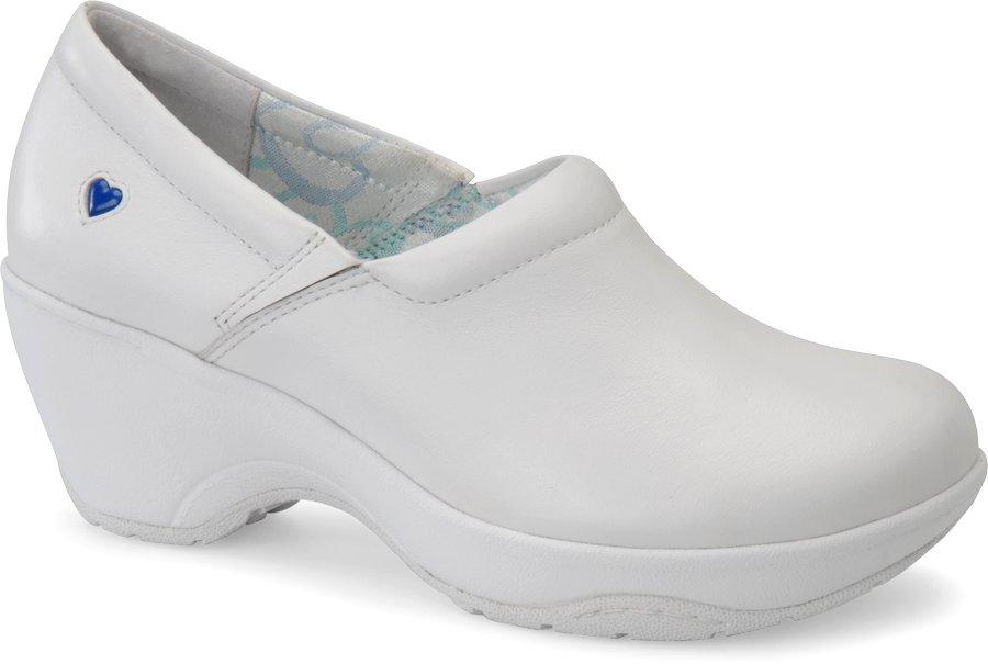 Nurse Mates Women's Bryar White Slip-On Clog Shoe-