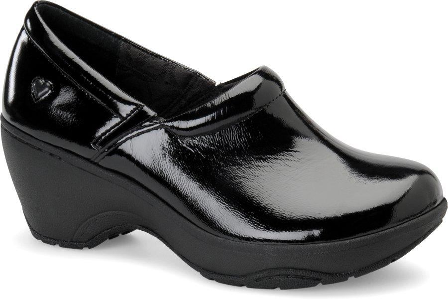Nurse Mates Women's Bryar Black Patent Slip-On Clog Shoe-Nurse Mates Shoes