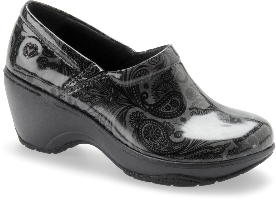 Nurse Mates Women's Bryar Dark Grey Slip-On Clog Shoe-Nurse Mates Shoes
