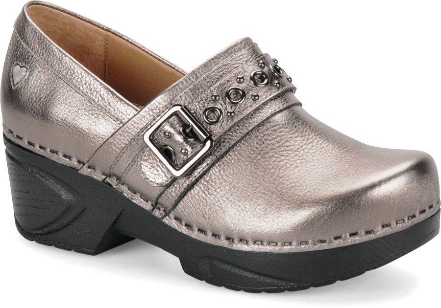 Nurse Mates Women's Chelsea Anthracite Clog Shoe-
