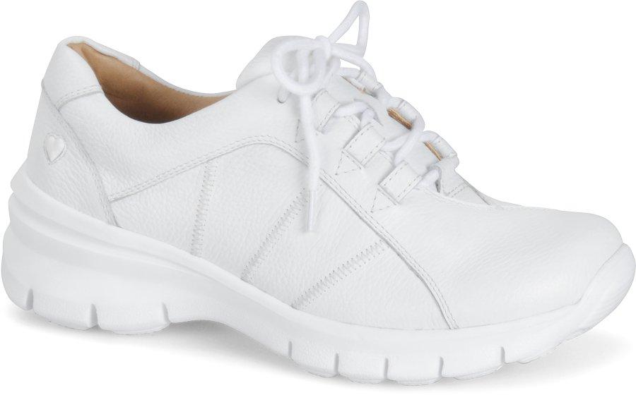 Nurse Mates Women's Lexi White Lace-Up Shoe-