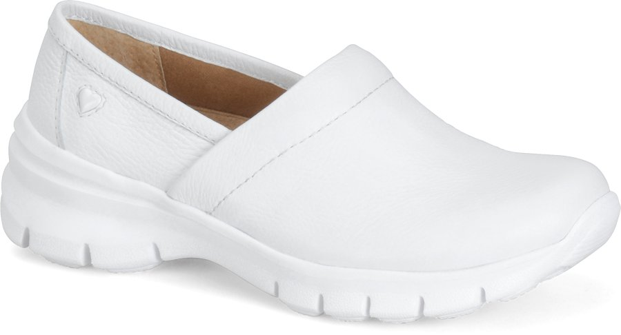 Nurse Mates Women's Libby White Slip-On Shoe-Nurse Mates Shoes