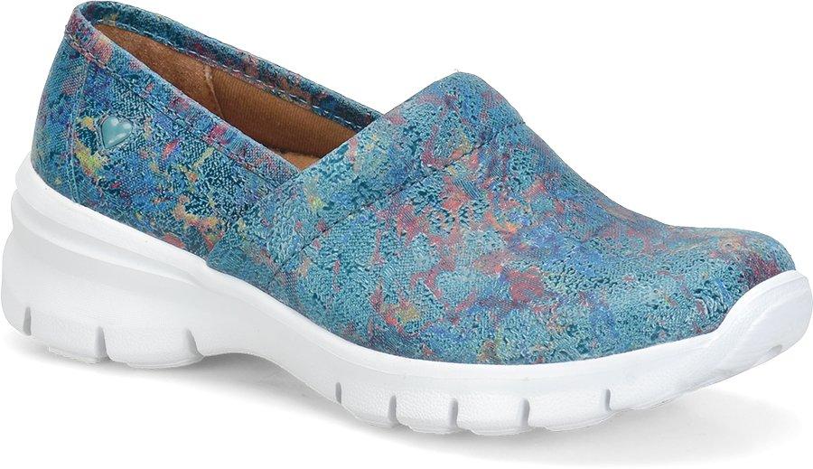 Nurse Mates Women's Libby Teal Tie Die Slip-On Shoe-Nurse Mates Shoes