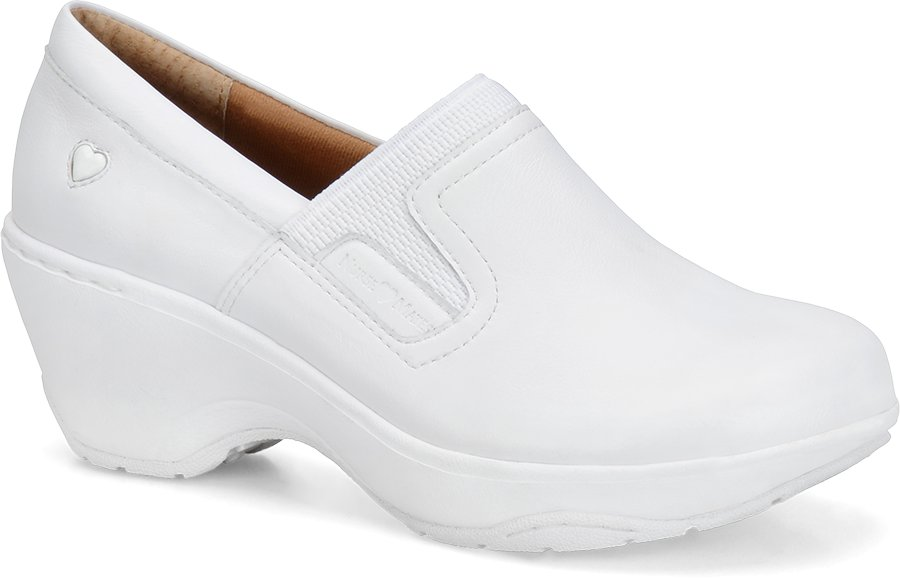 Nurse Mates Women's Briley White Slip-On Clog Shoe-Nurse Mates Shoes