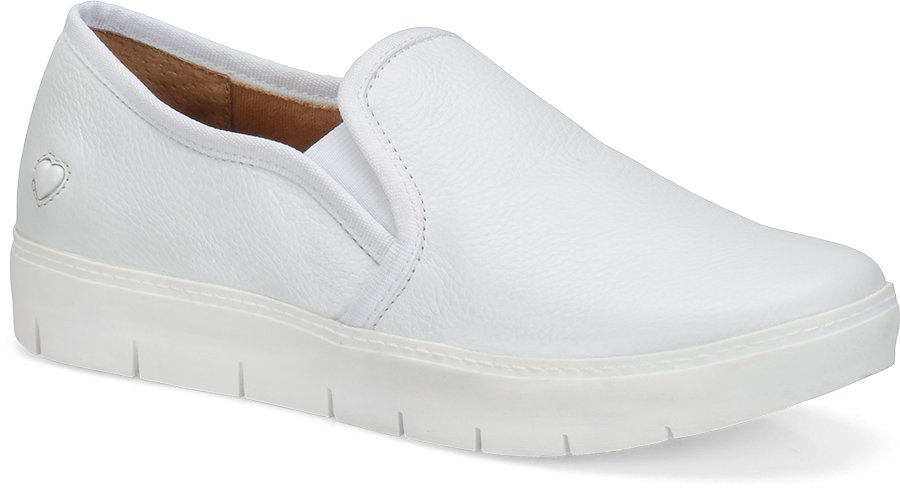 Nurse Mates Women's Adela White Slip-On Shoe-