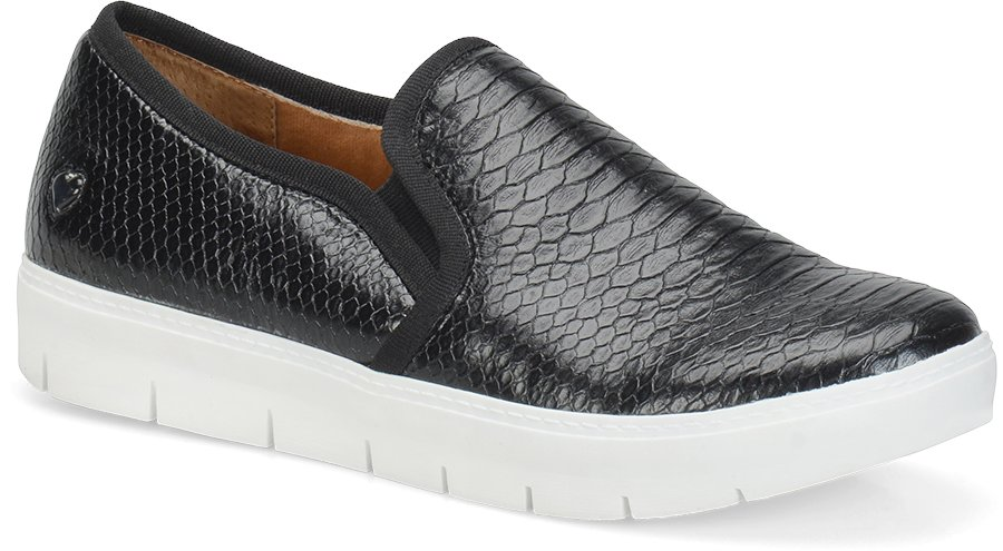 Nurse Mates Women's Adela Black Reptile Slip-On Shoe-Nurse Mates Shoes
