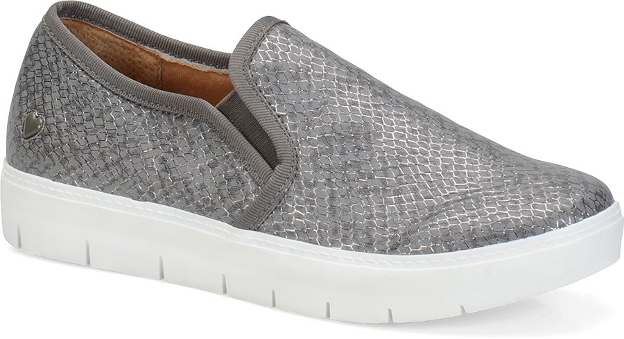 Nurse Mates Women's Adela Pewter Snake Slip-On Shoe-Nurse Mates Shoes
