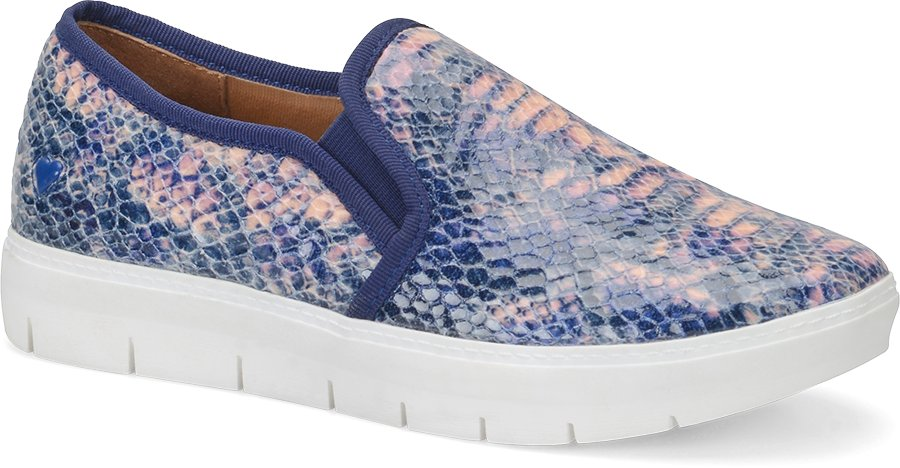 Nurse Mates Women's Adela Blue/Pink Snake Slip-On Shoe-Nurse Mates Shoes