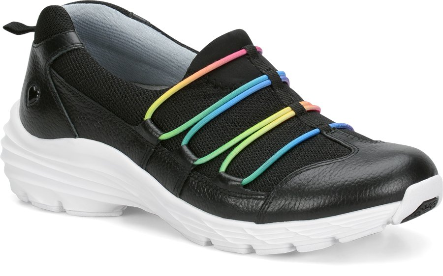 Nurse Mates Women's Dash Black Rain Slip-On Shoe-Nurse Mates Shoes