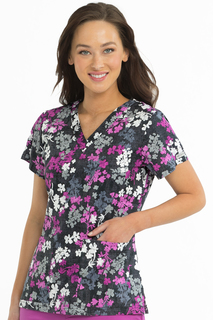 V-Neck Valerie Print Top-Med Couture