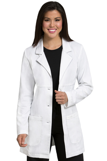 Empire Mid Length Lab Coat-Peaches