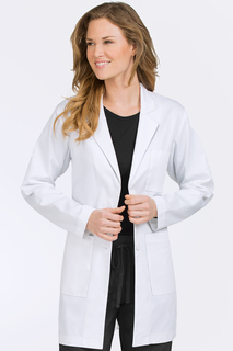 34 In. Mid Length Lab Coat-Med Couture