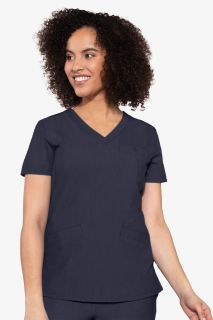 V Neck 3 Pocket Top-Med Couture Touch