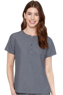 Med Couture Touch Henley Top-Med Couture Touch