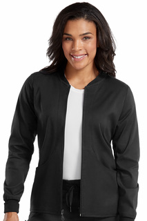 Performance Zip-Front Warm Up-Med Couture Touch
