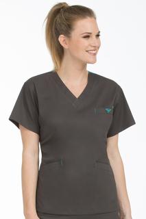 V-Neck Signature 3 Pocket Top-Med Couture