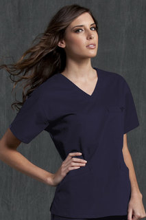 V-Neck Signature 3 Pocket Top-Med Couture