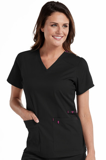 V-Neck Multi-Pocket Top-Med Couture