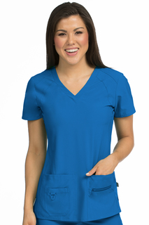 Med Couture Womens Refined Scrub Top