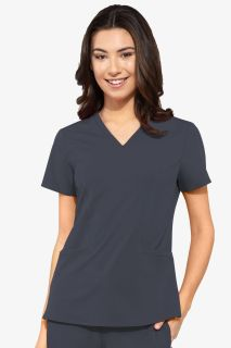 Peaches Double V Neck Top-Peaches