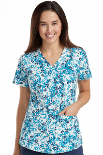 Shirttail Serena Print Top-Med Couture