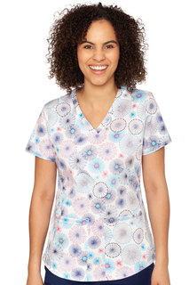 Shirttail Serena Print Top-