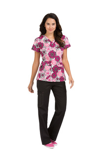 Med Couture Women's Niki Print Top