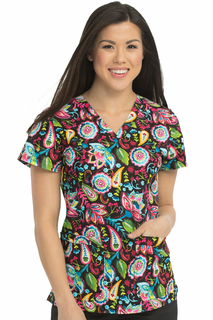 V-Neck Niki Print Top-Med Couture