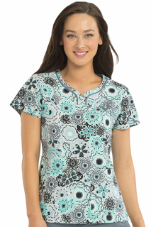 Sport Neckline Lexi Print Top-Med Couture