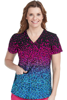 Shirttail Kerri Print Top-Med Couture
