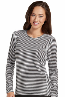 Performance Knit Stripe Tee-Med Couture