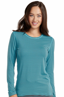 Med Couture Active Performance Knit Stripe Tee-Med Couture