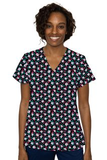 Med Couture V-Neck Vicky Print Top-Med Couture