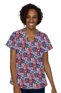V-Neck Vicky Print Top-Med Couture