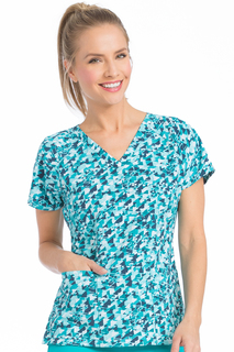Raglan Sleeve Spirit Print Top-Med Couture