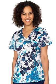 Mock Wrap Venus Print Top-Med Couture