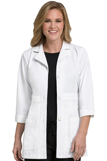 "9604 31"" Mid Length Lab Coat-Med Couture"
