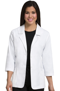 Consultation Length Lab Coat-Peaches